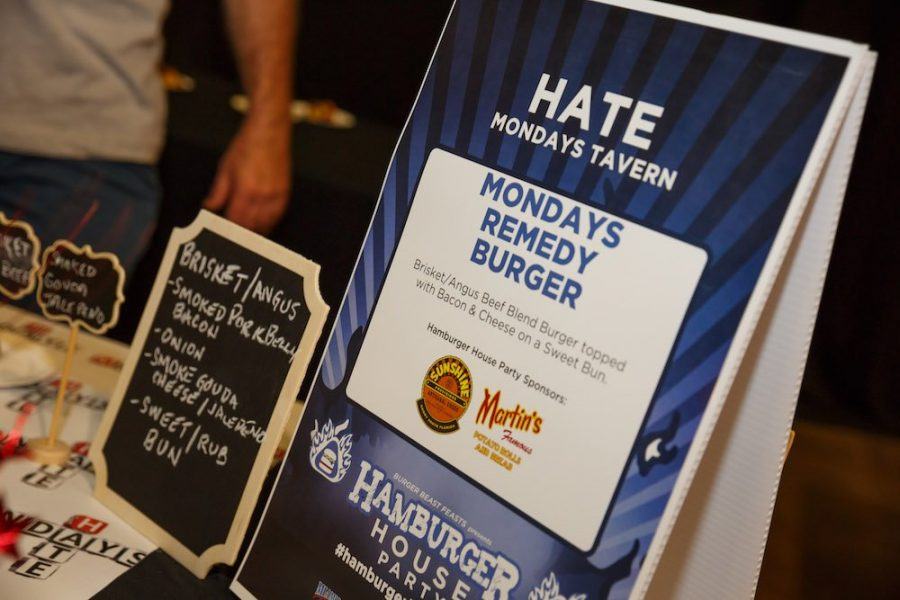Hate Mondays Tavern table topper at Hamburger House Party 2018