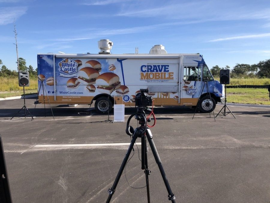 Camera in front of the Cravemobile
