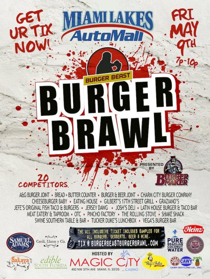 Burger Beast Burger Brawl 2014 Poster