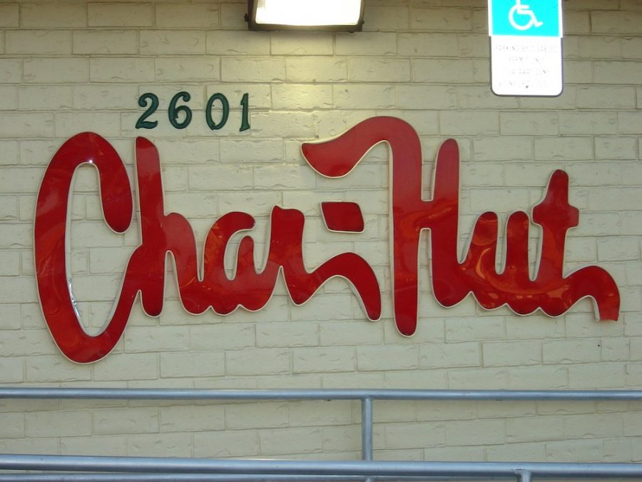 Char-Hut Logo outside of building