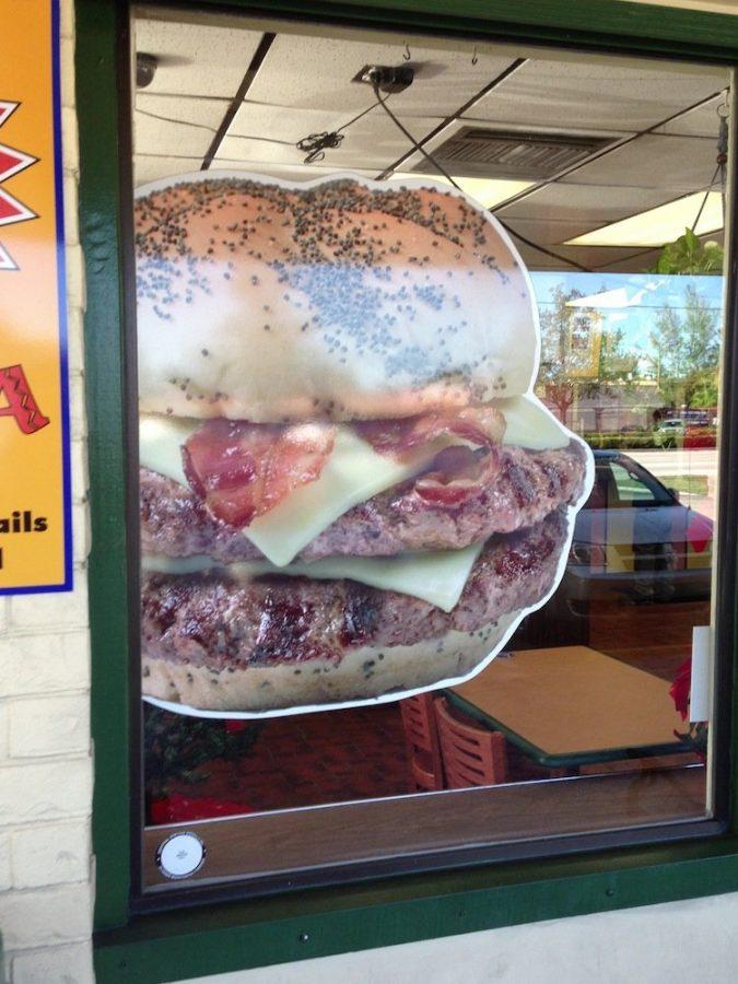 Char-Hut Burger window cling