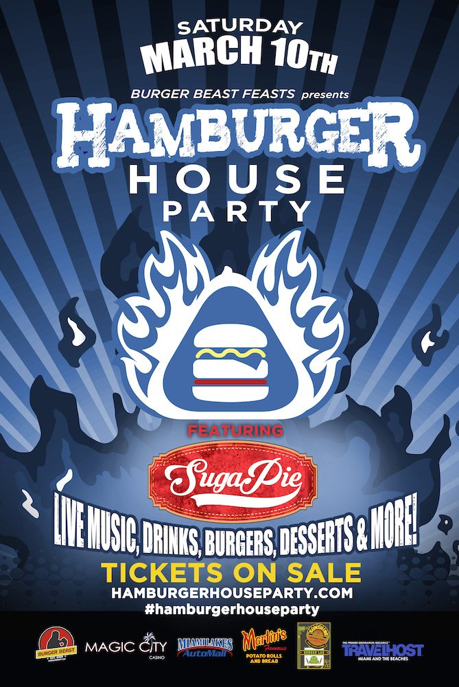 Hamburger House Party 2018 Poster