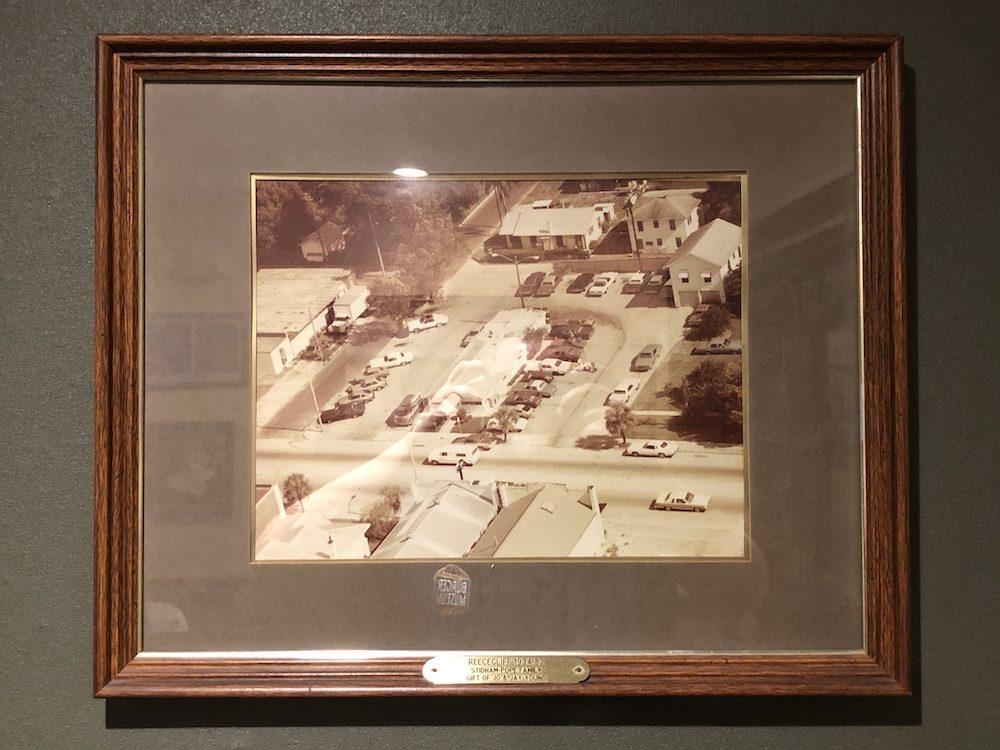 Reececliff Family Diner Vintage Aerial Restaurant Shot