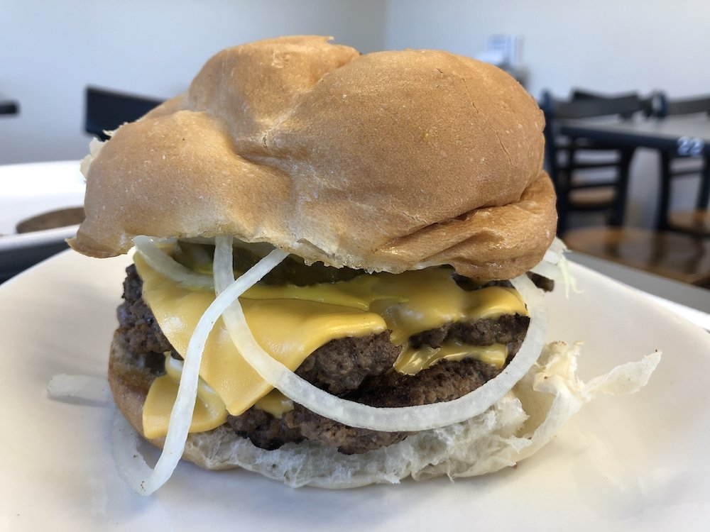 Ted's Luncheonette Double Cheeseburger