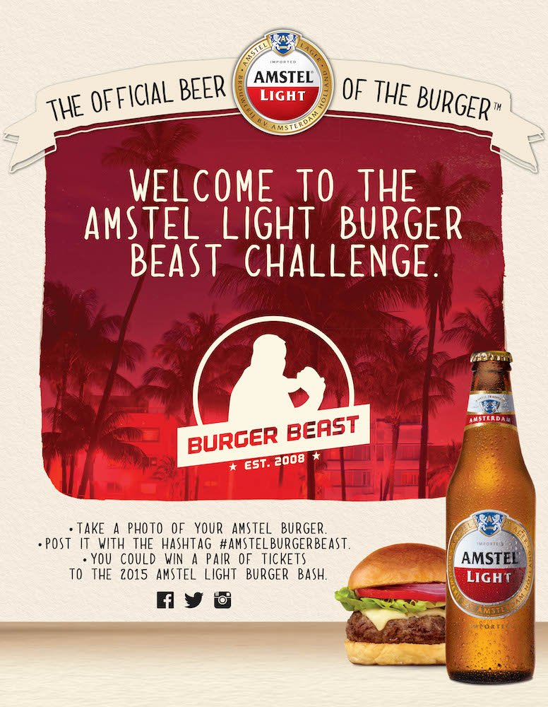 Burger Beast Amstel Light Challenge Poster