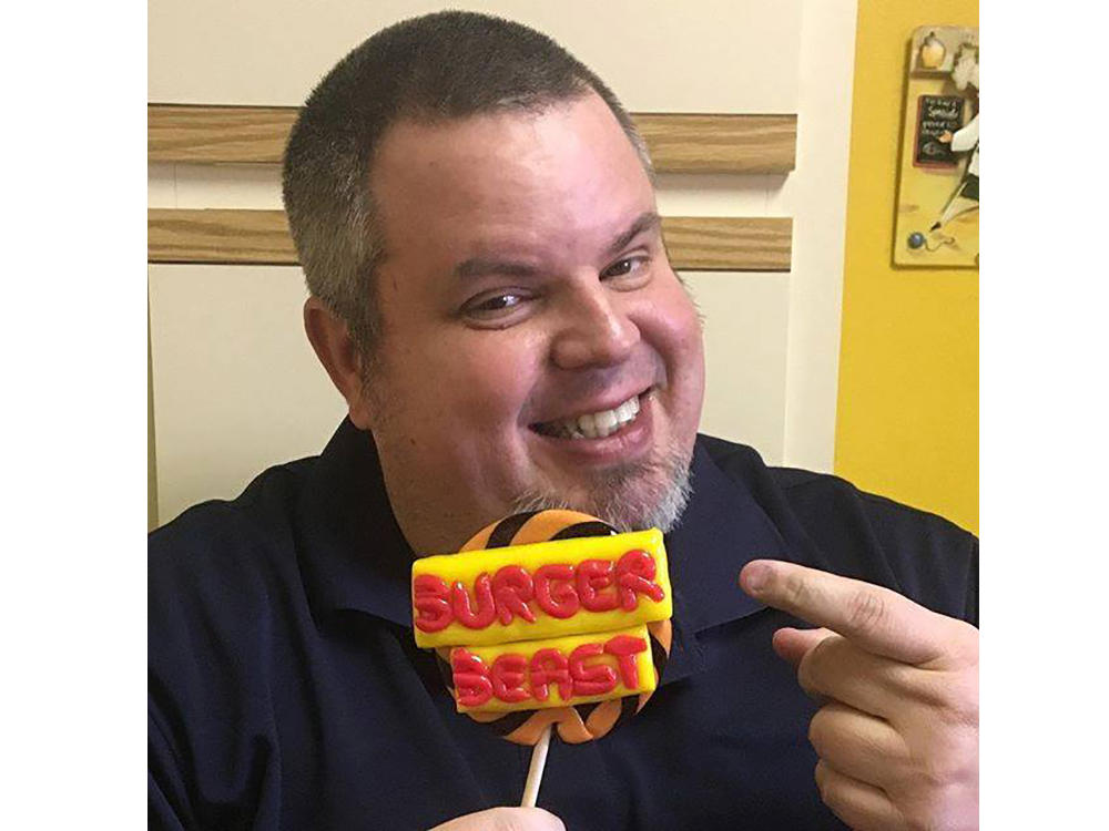 Burger Beast with a big smile