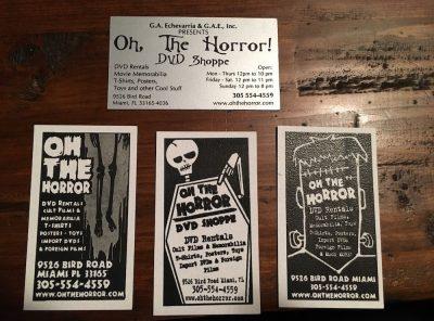 Oh, The Horror DVD Shoppe in Miami, Florida