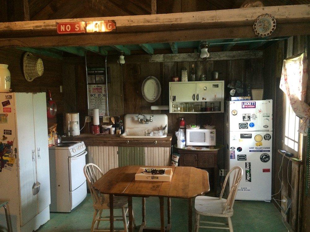 Kitchen area inside of Dogtrot