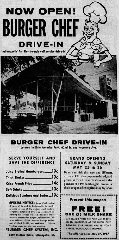 Ad in Indianapolis News 5-24-57