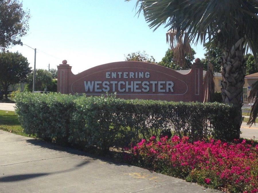 Entering Westchester Sign