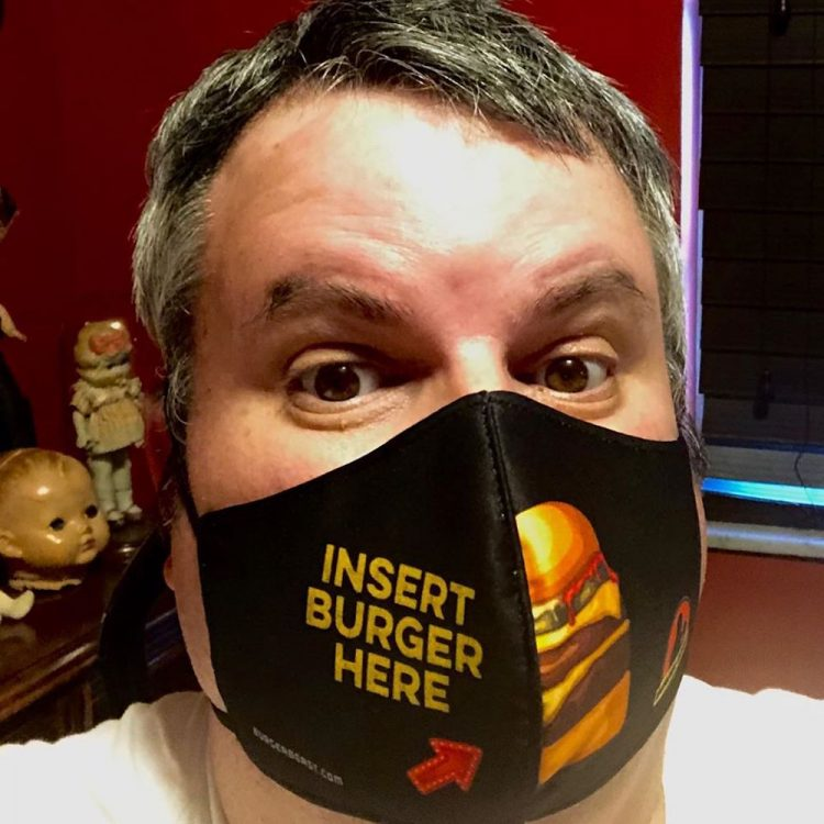 Burger Beast Insert Burger Here Mask
