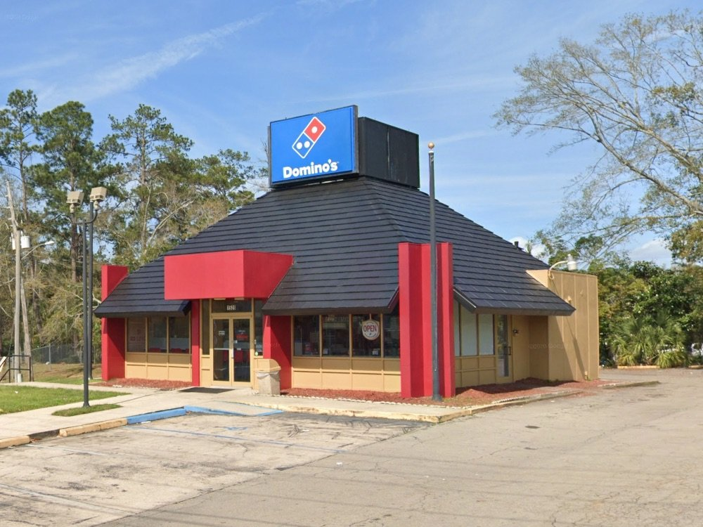 Domino's Pizza in Tallahassee, a former Royal Castle building