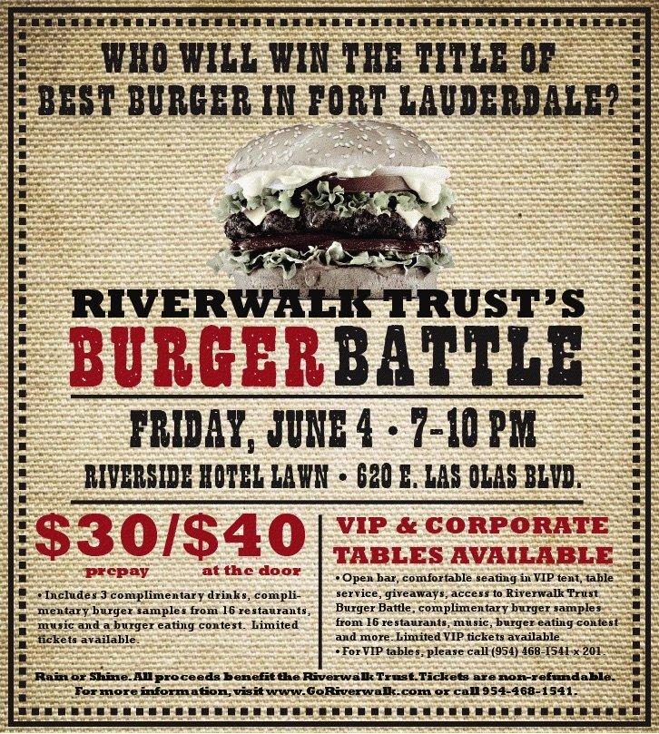 Riverwalk Burger Battle 2010 Poster