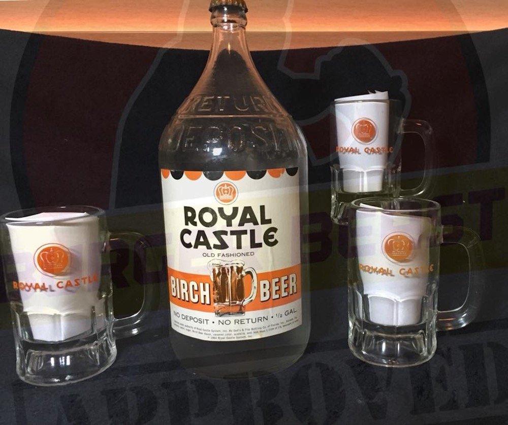 Royal Castle Birch Beer Bottle & Mugs