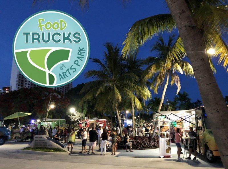 Food Trucks at ArtsPark in Hollywood, Florida