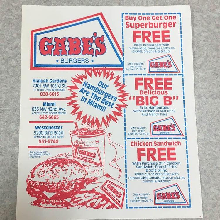 GABE's Flyer from my Burger Museum collection