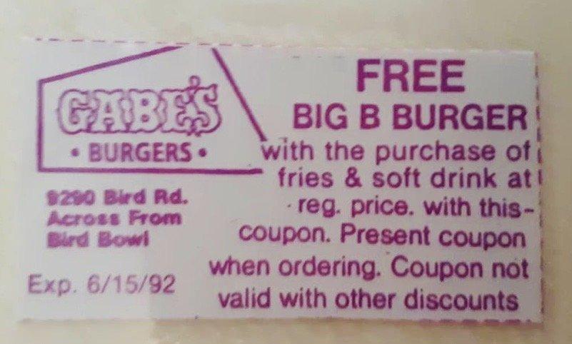 GABE's Burgers Coupon