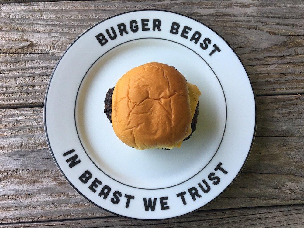 Famous Tavern Burger on Burger Beast plate