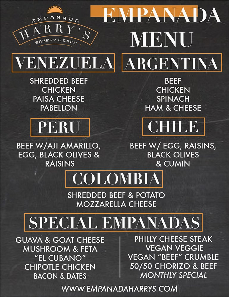 Empanada Harry's Empanada Menu