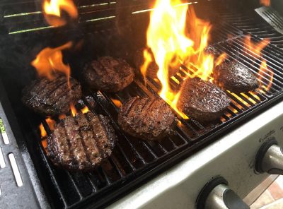 Delicious Burgers made on a BBQ Grill