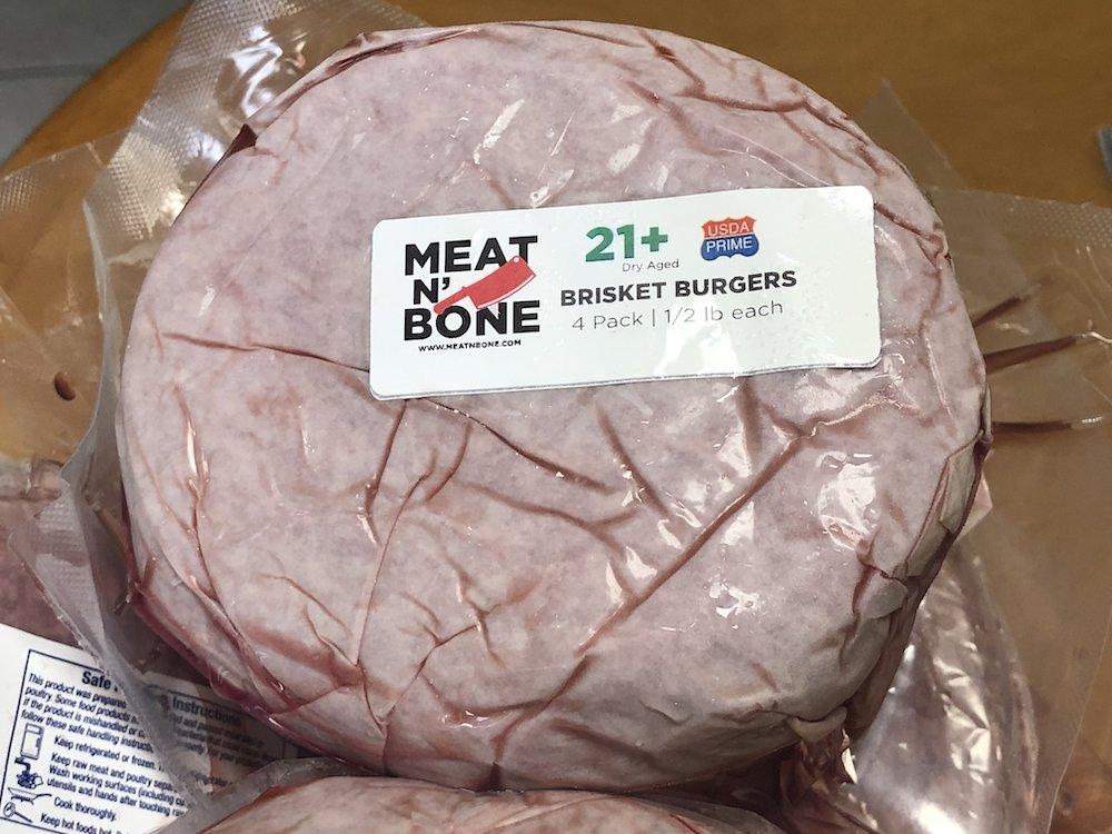 Meat N'Bone Cryopacked Dry Aged Brisket Burgers