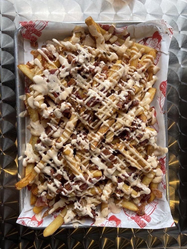 Bacon Ranch Loaded Fries from Carolina Jax
