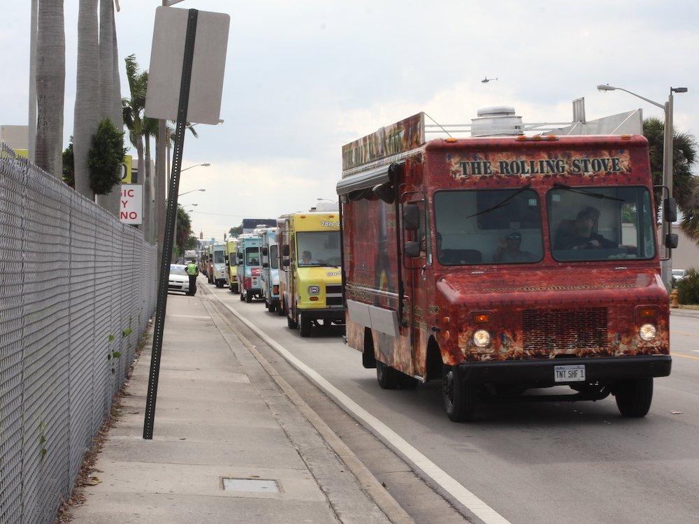 Food Trucks setting Guinness World Record