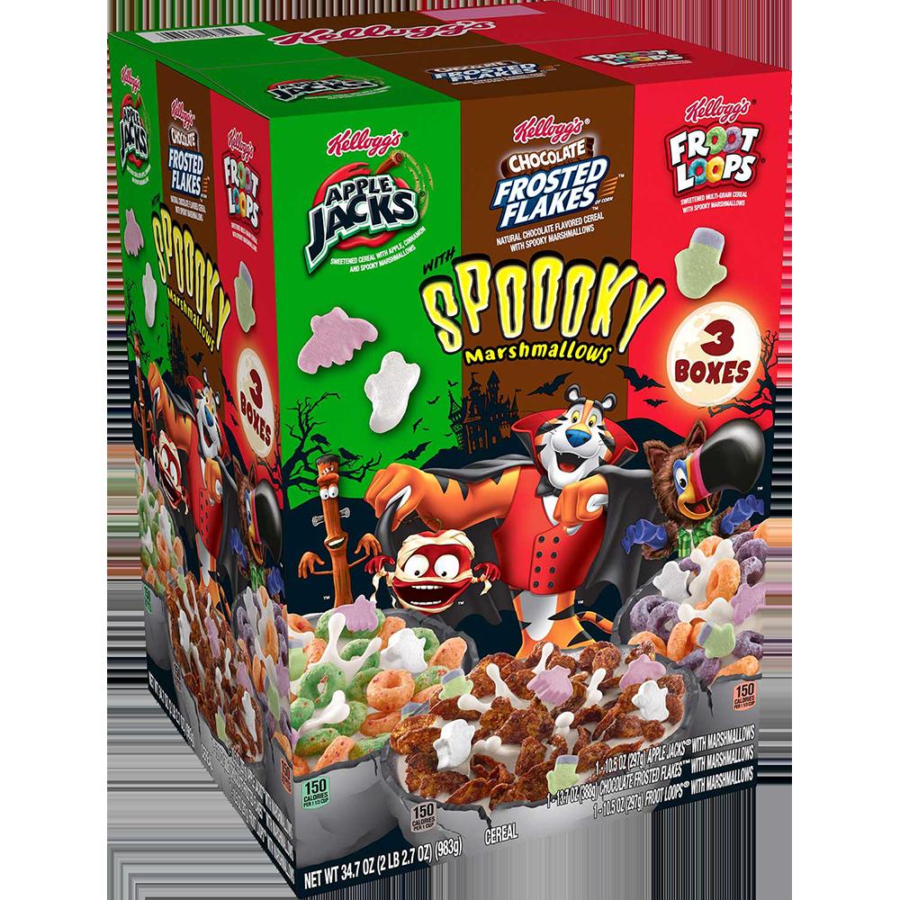 Kelloggs Trio of Halloween Cereals
