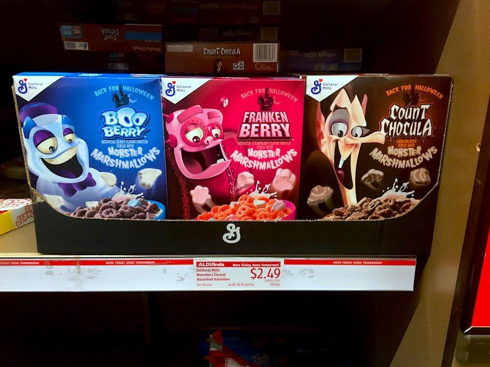 Monster Cereals for Halloween 2020