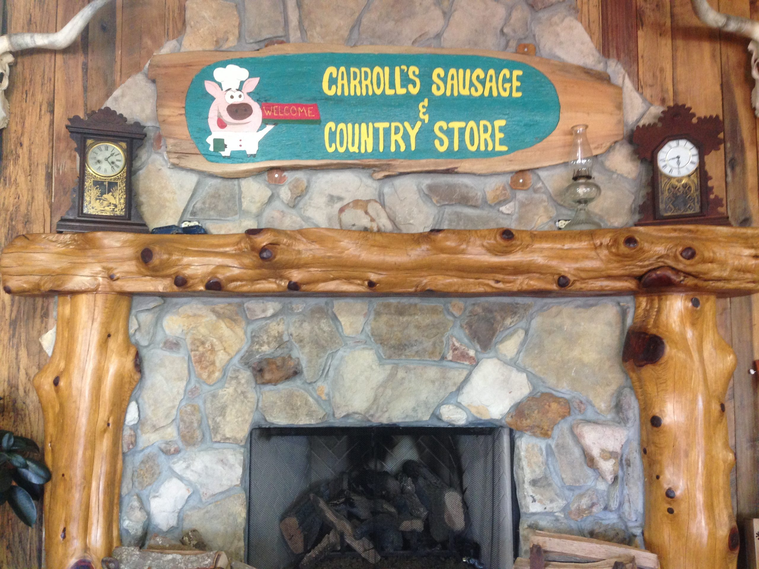 Carroll's Sausage Store Fireplace