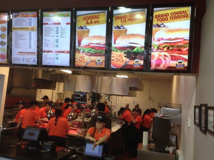 Hamburgers El Corral in Doral Order Counter