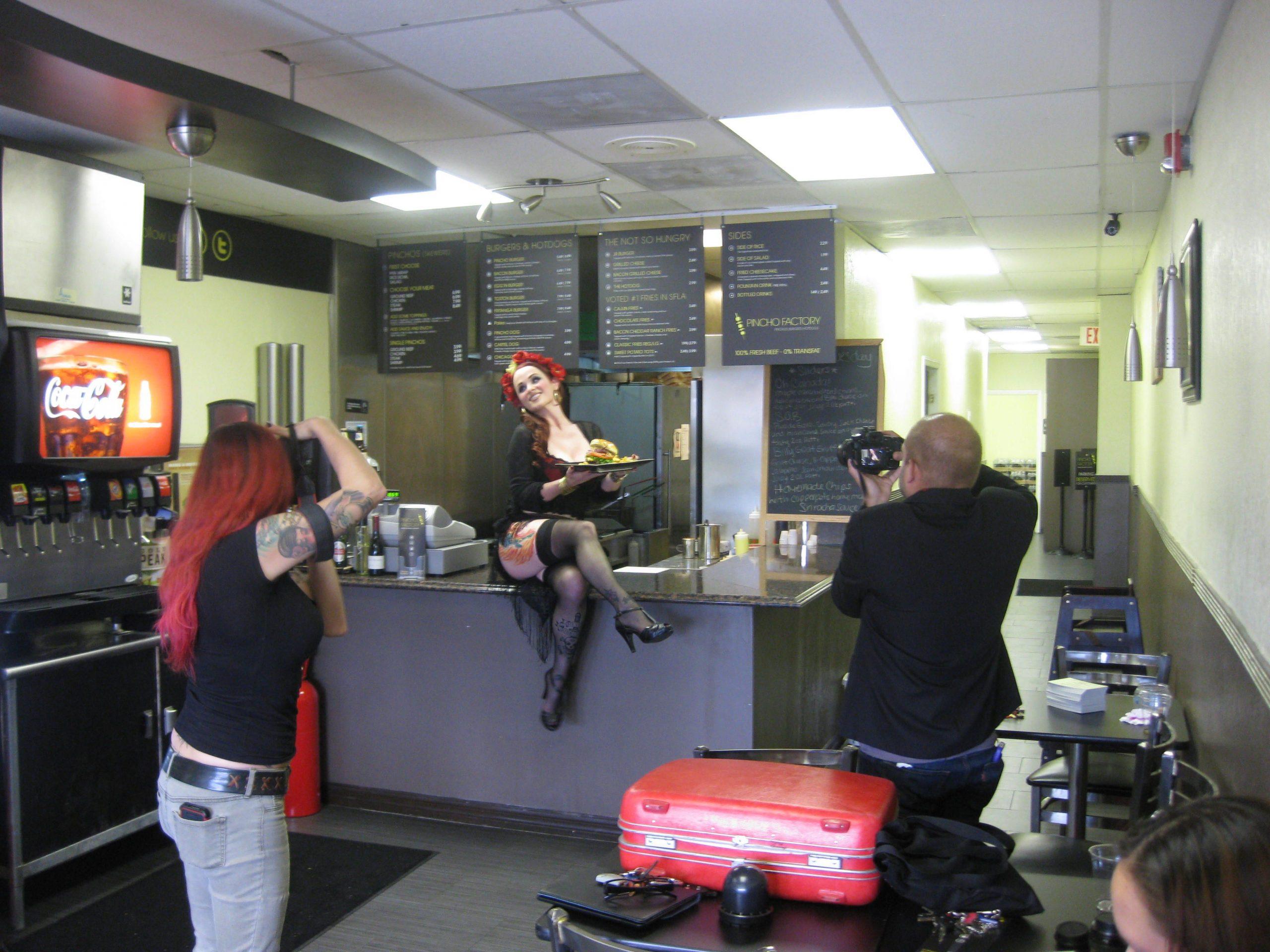 PINCHO Burgers n Broads Calendar Shoot