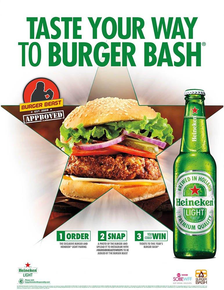 Heineken Light Burger Beast Challenge Poster