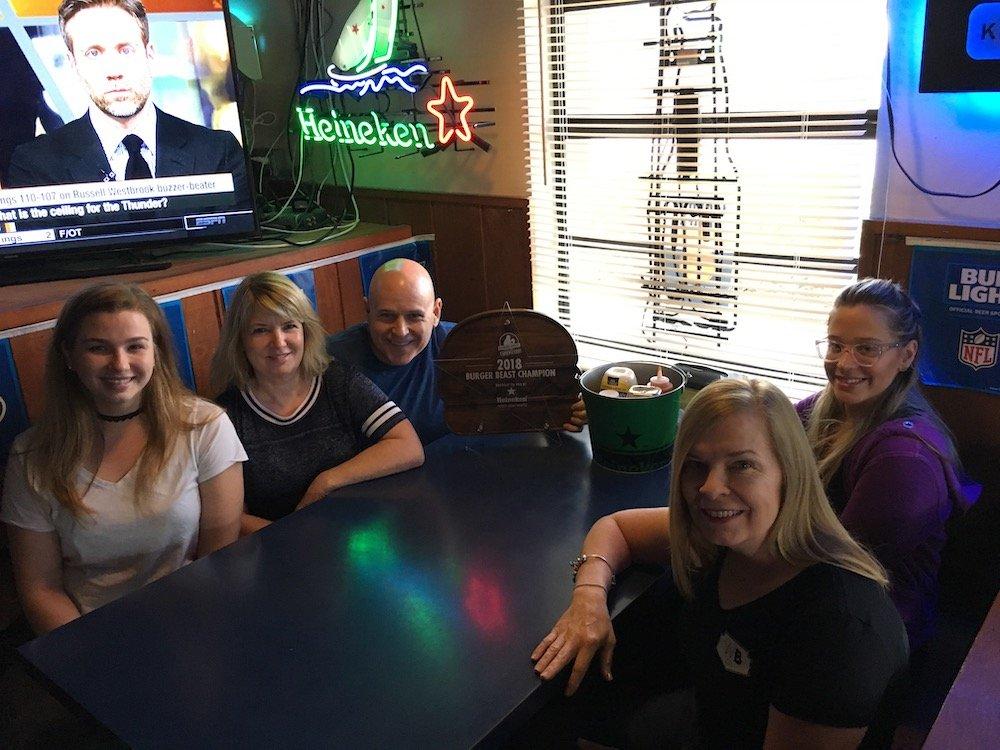 Keg South Kendall, the 2018 Heineken Light Burger Beast Challenge Winners