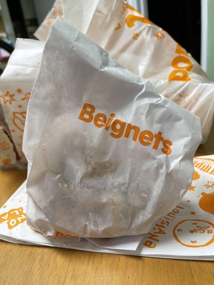 Popeyes Beignets Bag