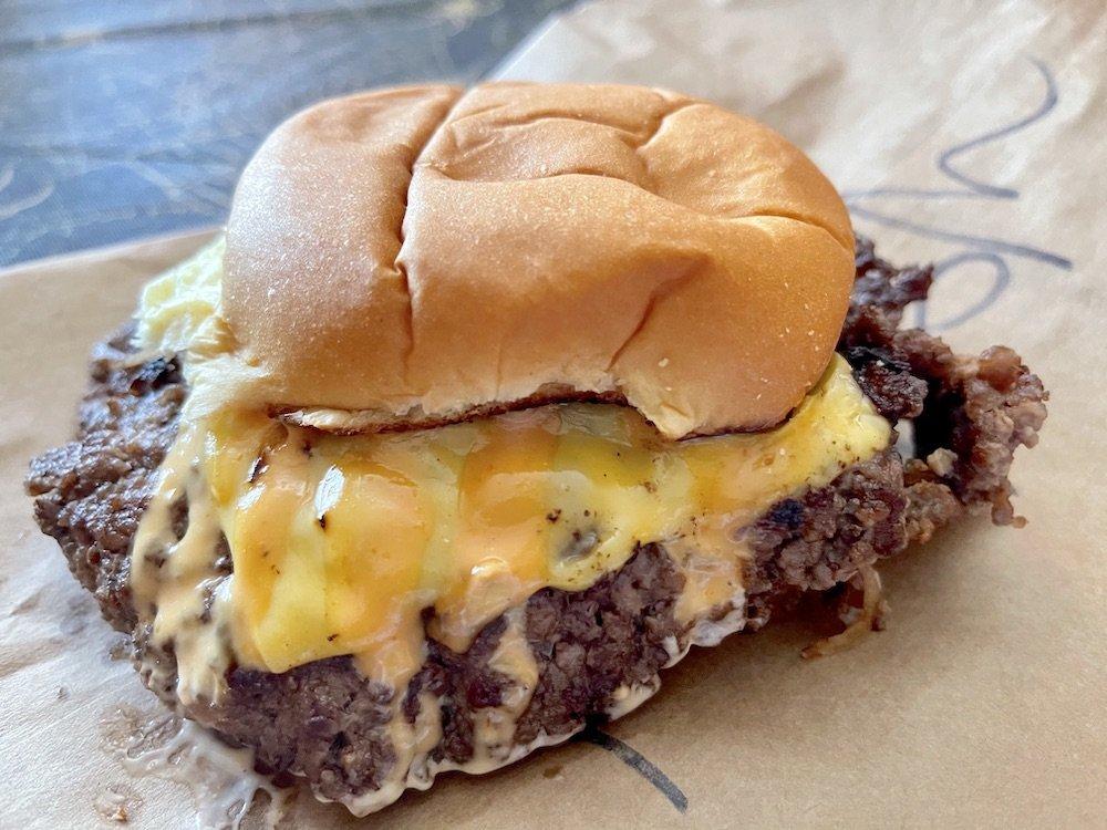 Ted's Burgers OKC Fried Onion Burger