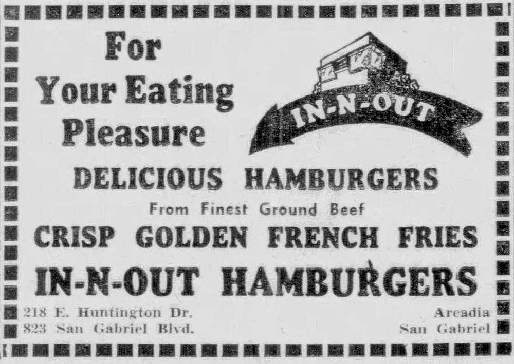In-N-Out in the Daily News-Post on October 3rd, 1952