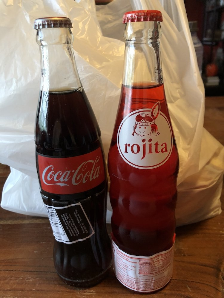 Coca Cola & Rojita in Glass Bottle
