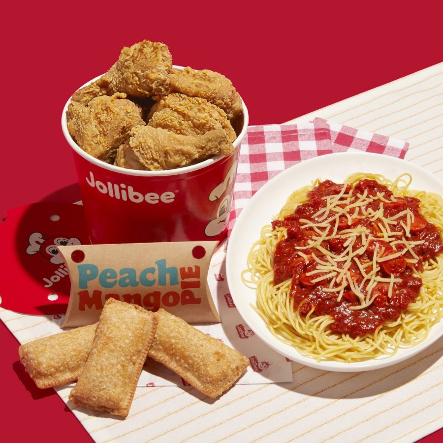Jollibee Chickenjoy, Jolly Spaghetti & Peach Mango Pie