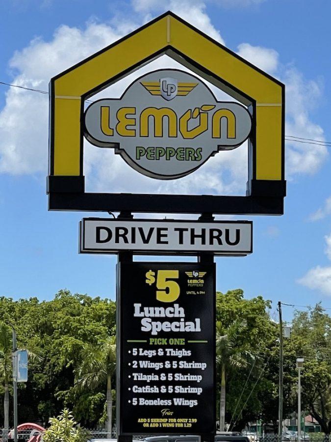 Lemon Peppers Sign