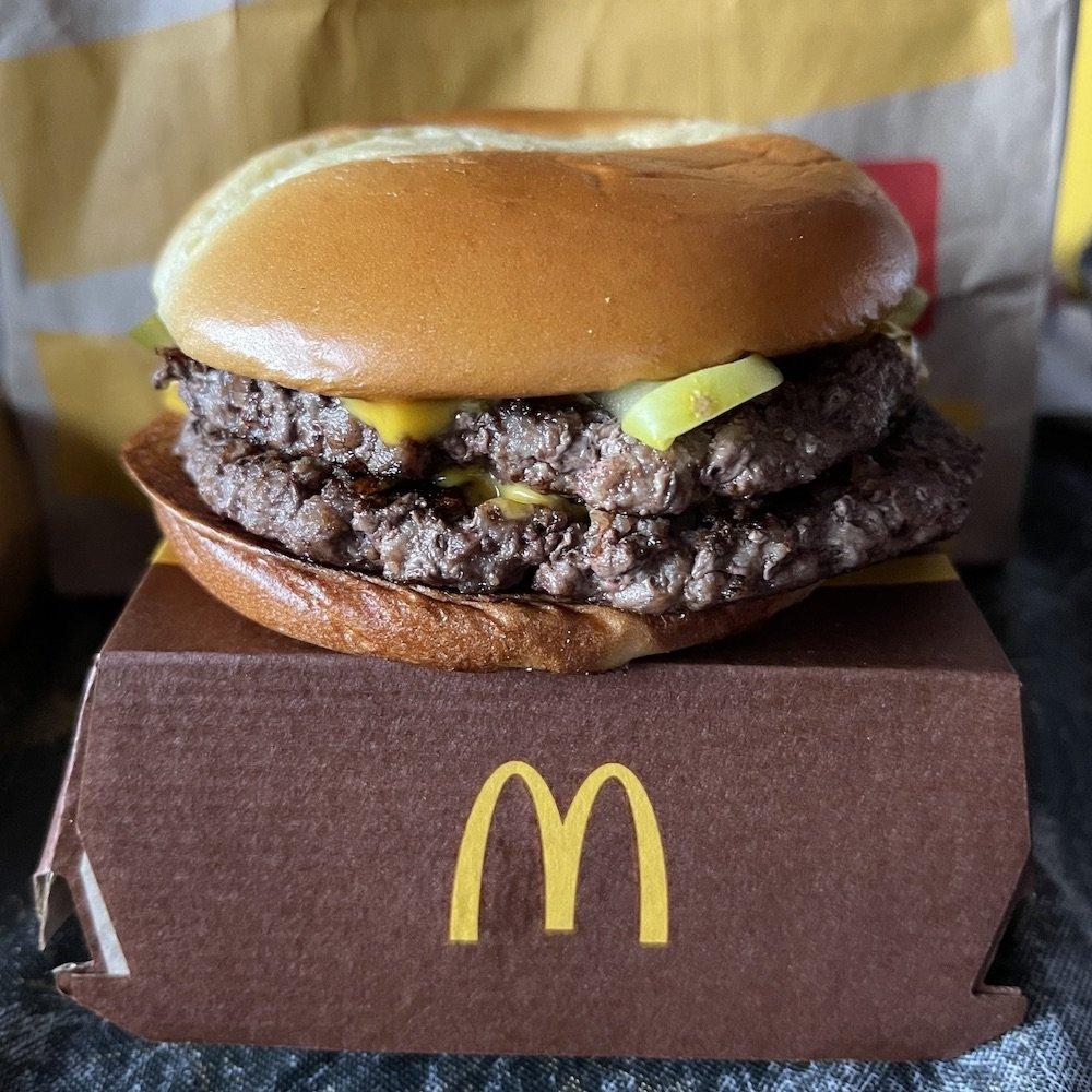 McDonald's Quarter Pounder on Artisan Potato Bun