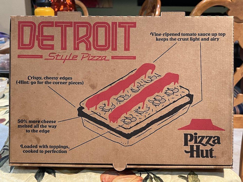 Pizza Hut Detroit-style Pizza Box