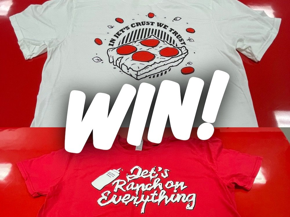 Jet's Pizza T-shirt & Giftcard Giveaway