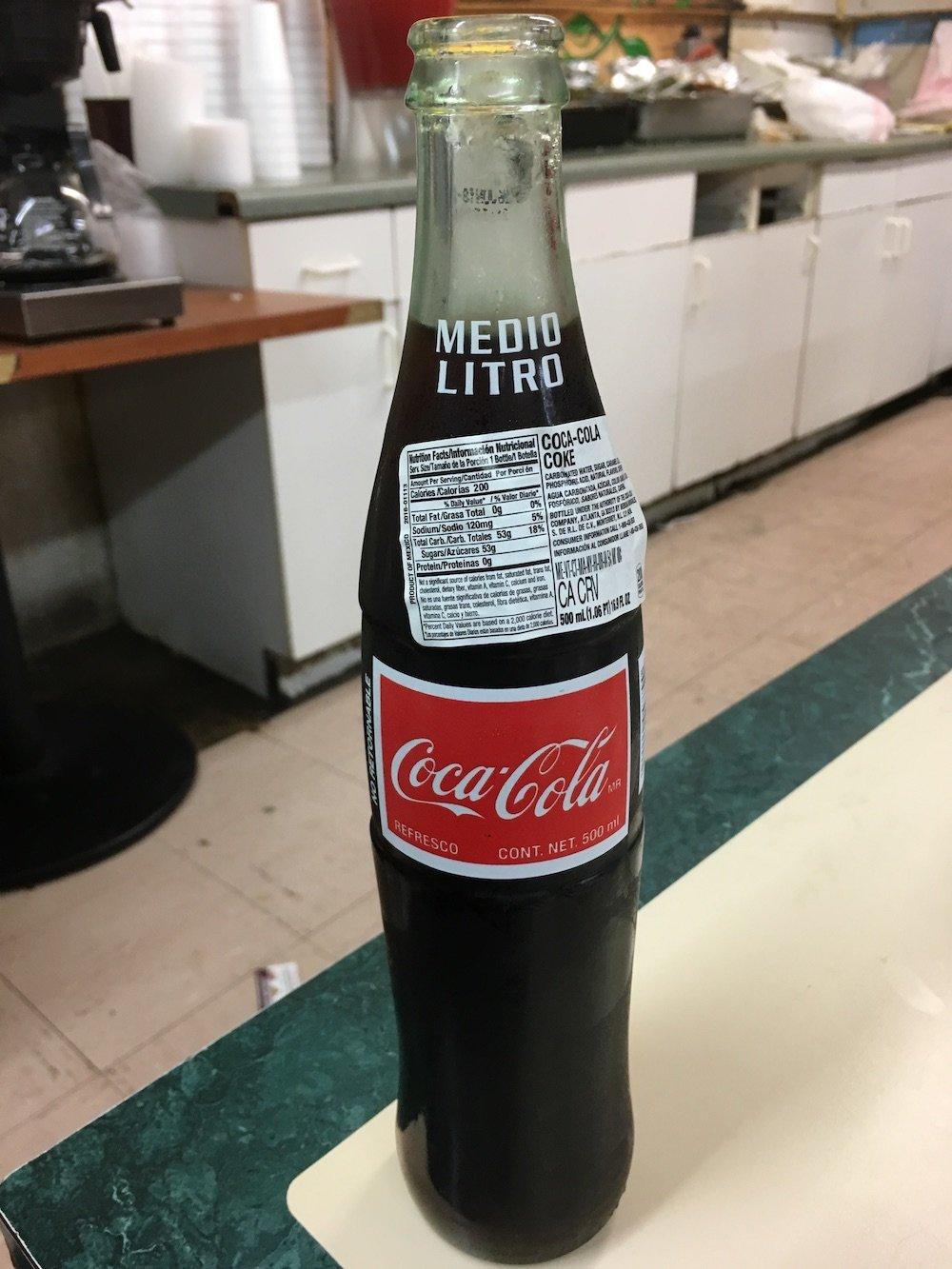 Mexican Coke Liter Bottle