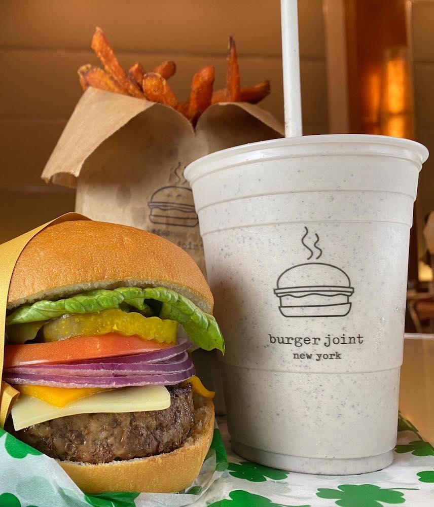 Burger Joint Burger at Parker New York Hotel
