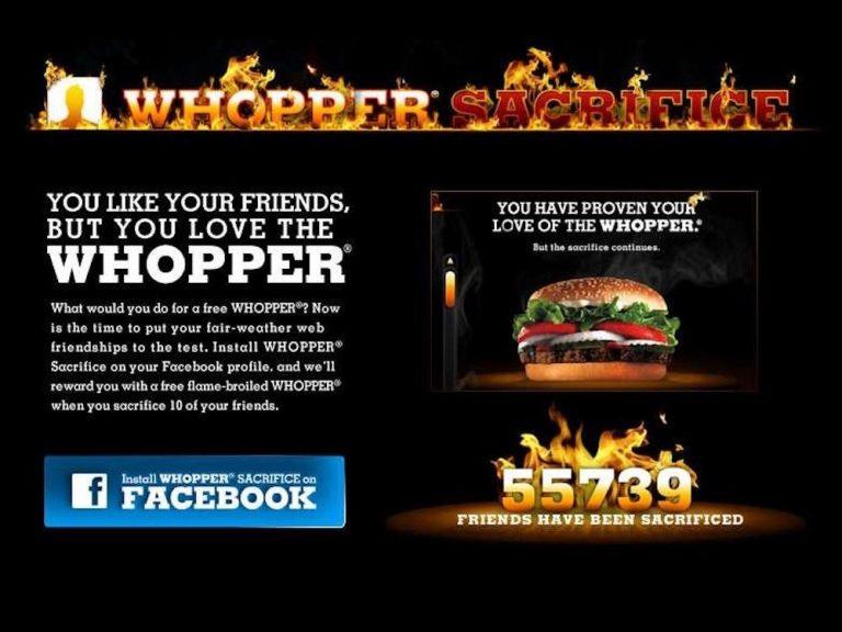 Who Remembers the Burger King Whopper Sacrifice?