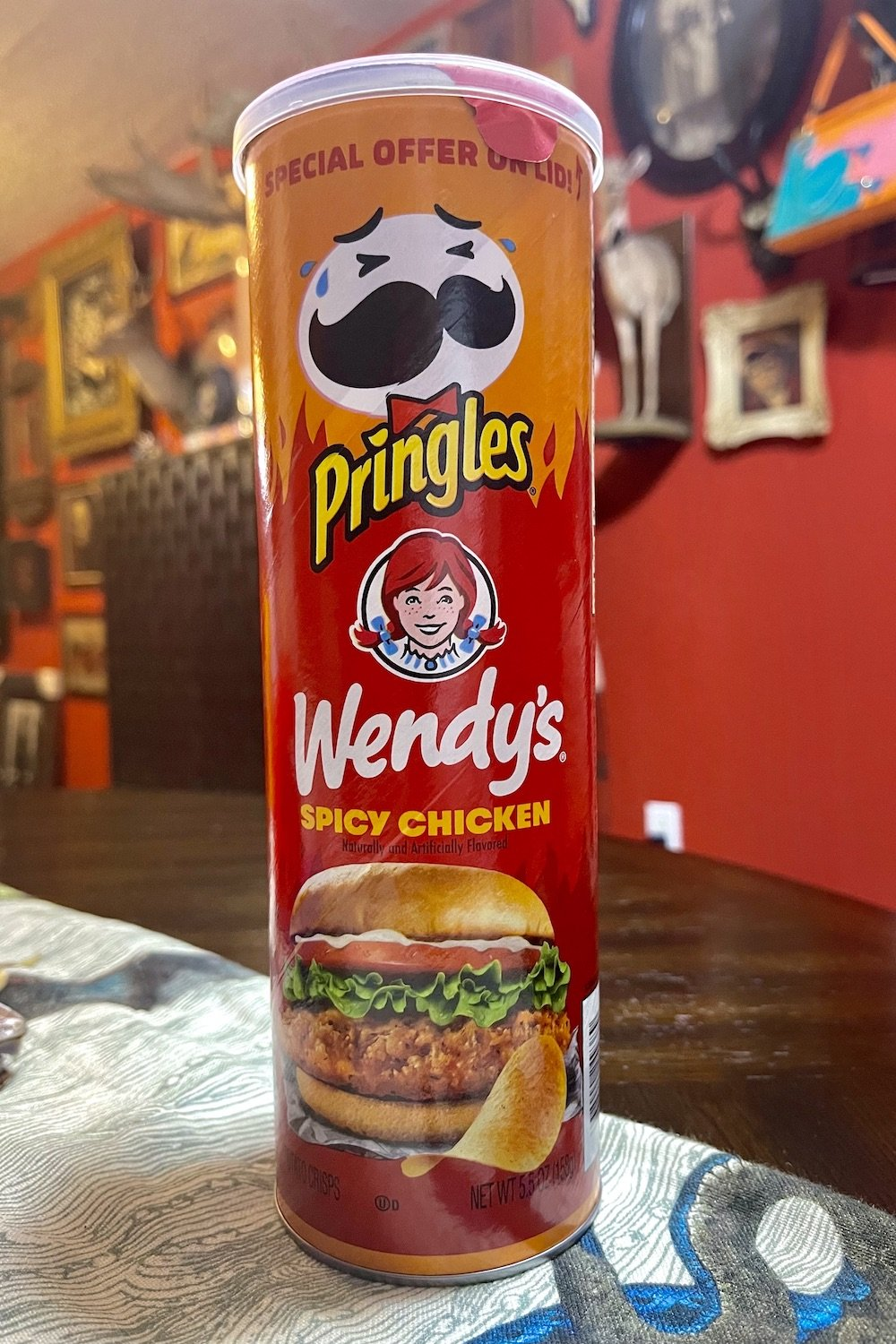 Pringles Wendy's Collab Spicy Chicken Chips