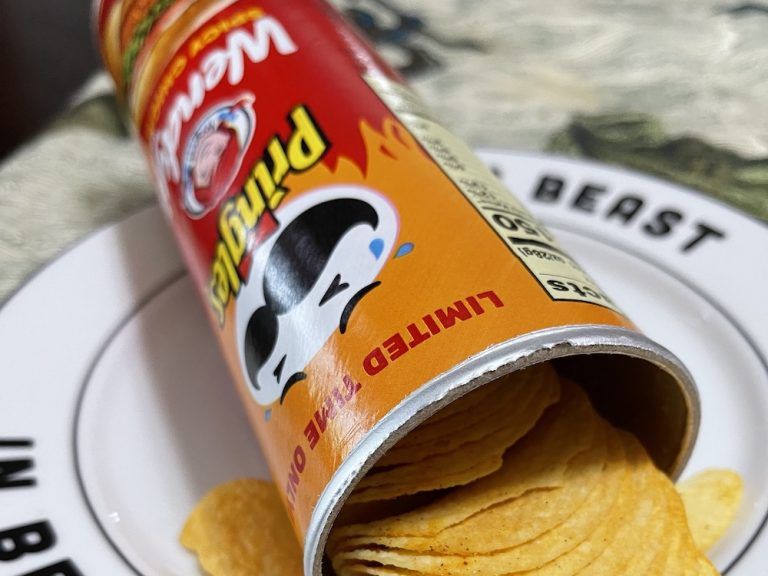 How are the Wendy's Spicy Chicken Pringles Chips?