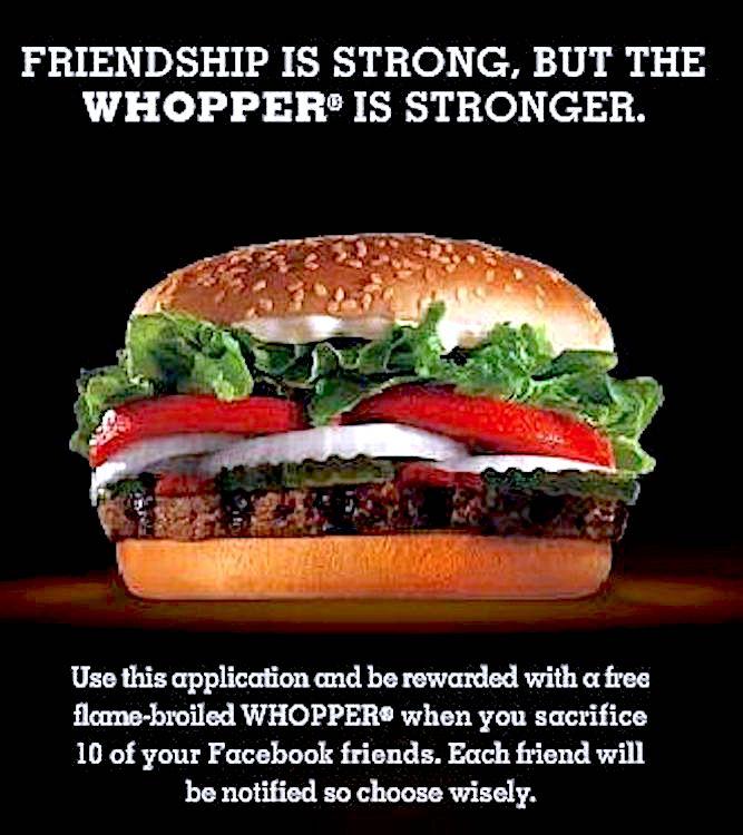 Whopper Sacrifice Ad