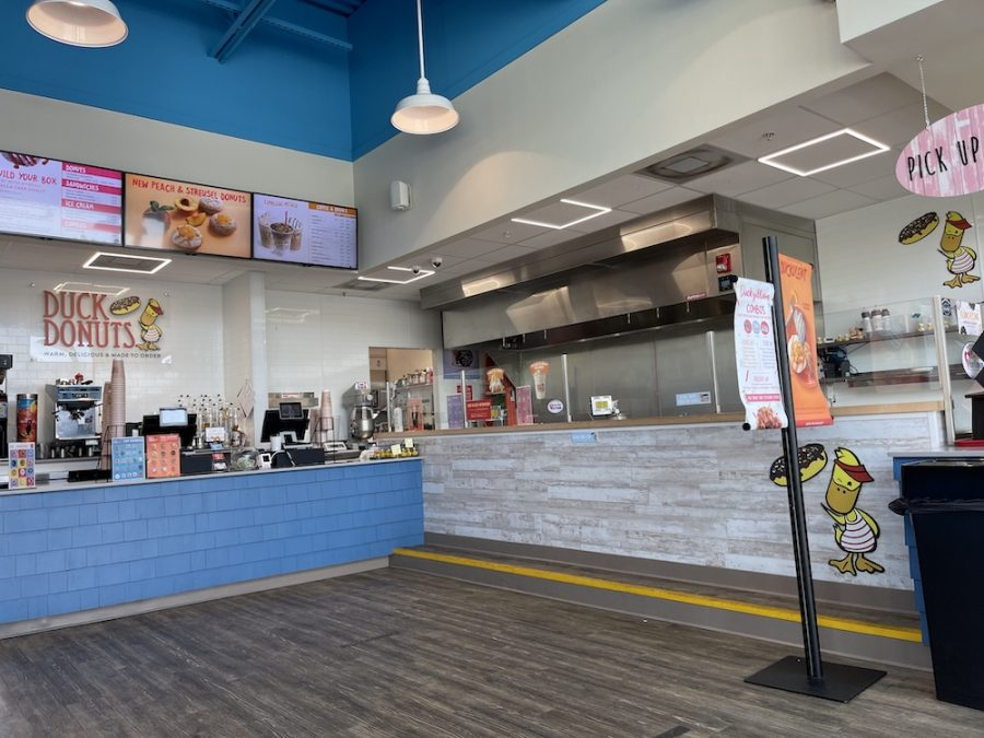 Inside of Duck Donuts Naples